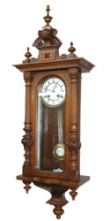 グスタフ・ベッカー Gustav Becker 柱時計の写真2
